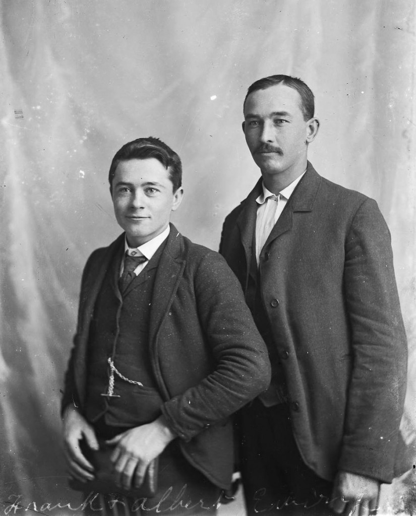 Albert Ewing, seen at right with his younger brother Frank, who is believed to have joined Albert in the photography business. Via the Albert J. Ewing Collection