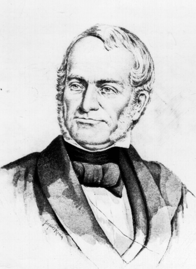 Portrait of James G. Birney, publisher of the Philanthropist from 1836-1843. Via Ohio Memory