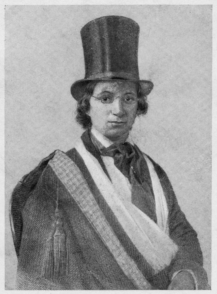Ellen Craft wearing the disguise she used to escape from slavery, via the Siebert Collection