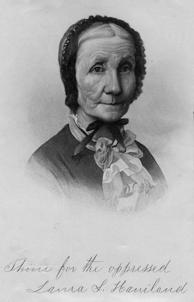 Engraving of Laura Haviland, via the Siebert Collection