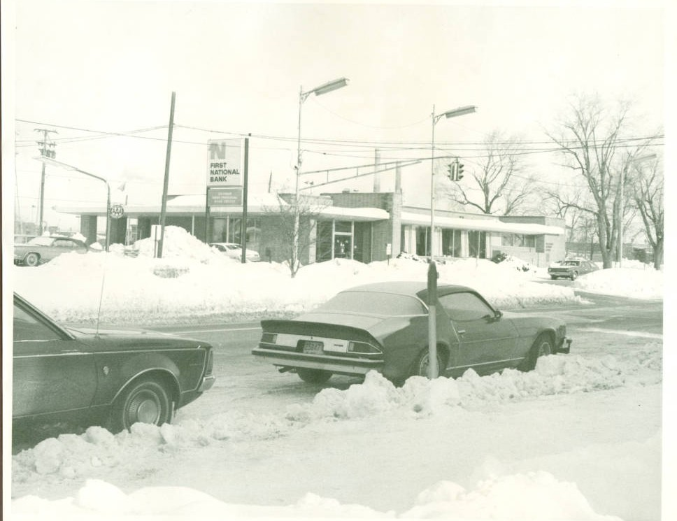 Snowy scene in Rossford, Ohio, during the Blizzard of '78. Courtesy of the Rossford Public Library via Ohio Memory
