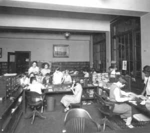 Children at the library, courtesy of the Public Library of Youngstown and Mahoning County via Ohio Memory