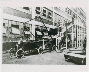 Ford assembly plant in Cleveland, now a part of the Cleveland Institute of Art, via the Ohio Guide Collection on Ohio Memory