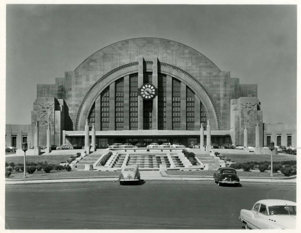 Cincinnati Union Terminal, ca. 1954. Via Ohio Memory