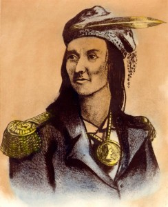 Tecumseh, Shawnee military and political leader, via Ohio Memory