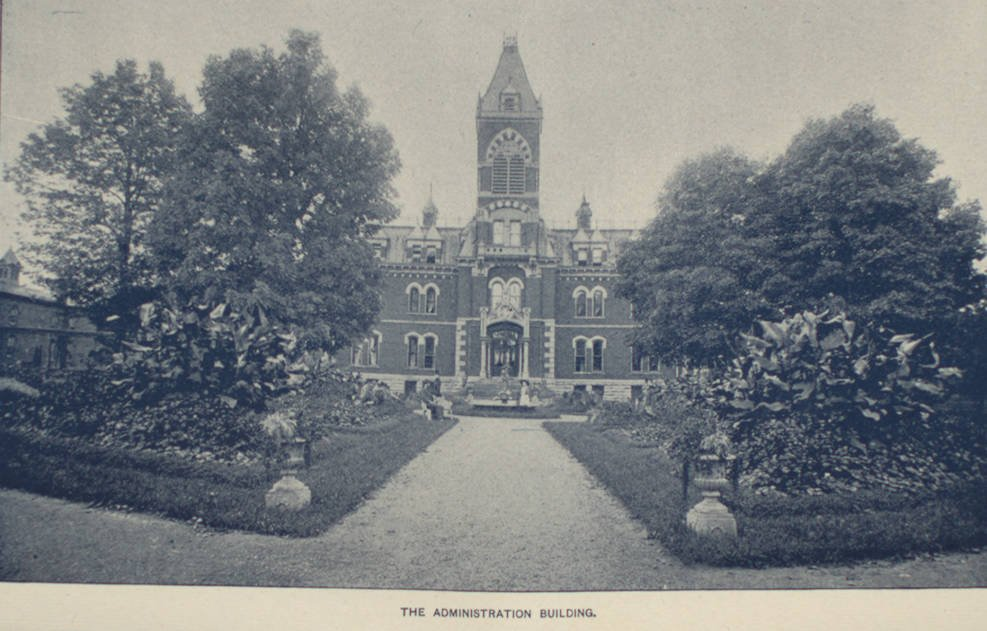 Administration building at the Soldiers' and Sailors' Orphans' Home in Xenia, 1901. Courtesy of the Greene County Records Center and Archives via Ohio Memory.