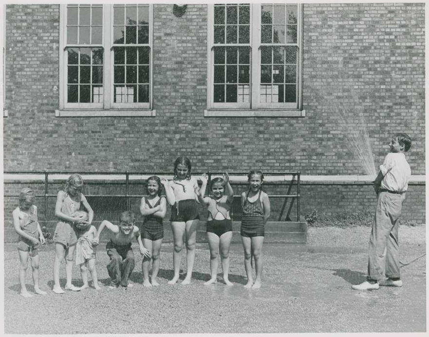 """""""Summer Time - Warren Playground"""" from the Ohio Guide Collection on Ohio Memory"""
