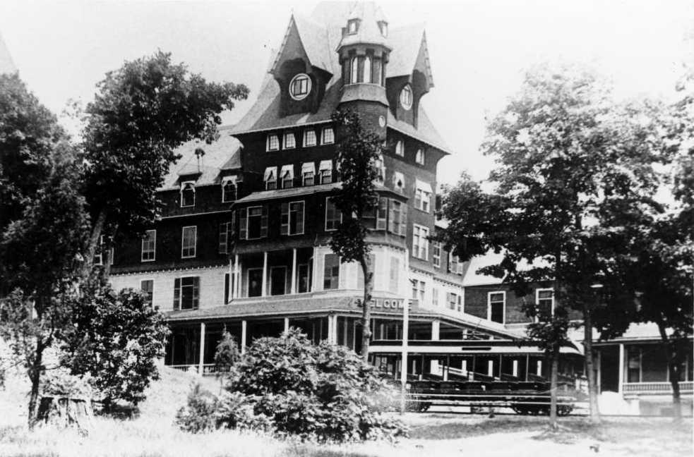 The Hotel Victory, one of the largest hotels in the country during the late 19th century. Courtesy of the Lake Erie Islands Historical Society via Ohio Memory