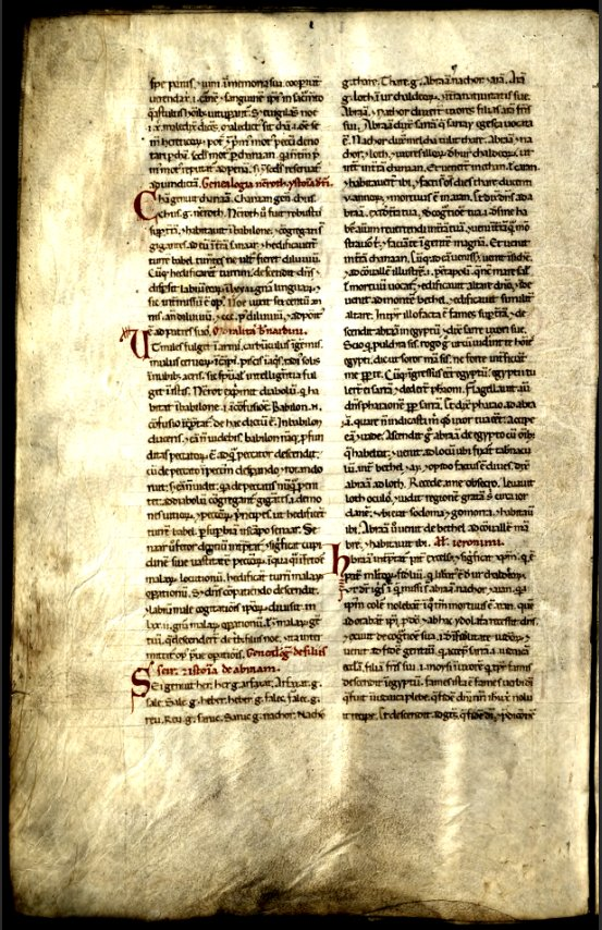 Full page of the Historia testamenti veteris et allegorii on Ohio Memory, believed to be around 8 centuries old!