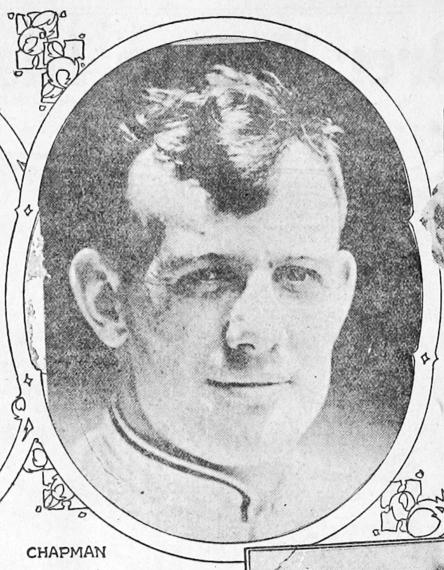 Portrait of Ray Chapman from the Ogden Standard, December 22, 1917, via Chronicling America.