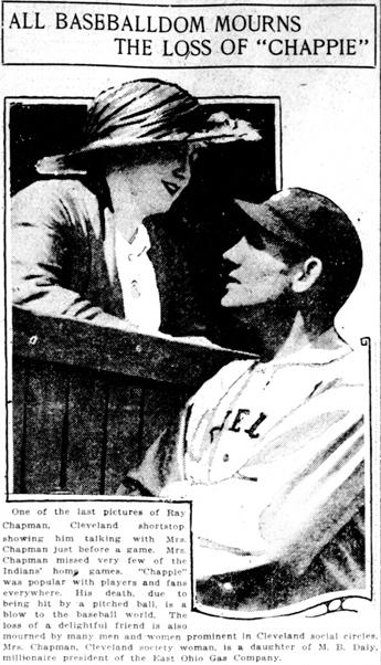 Article about Chapman's death, from the Washington Herald., August 19, 1920. Via Chronicling America.