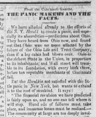 September 15, 1857, article from the Mt. Vernon Republican, courtesy of the Civil War-Era Newspapers of Mount Vernon.