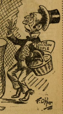 "Character representing ""The Common People"" from ""Nursery Rhymes for Infant Industries."""