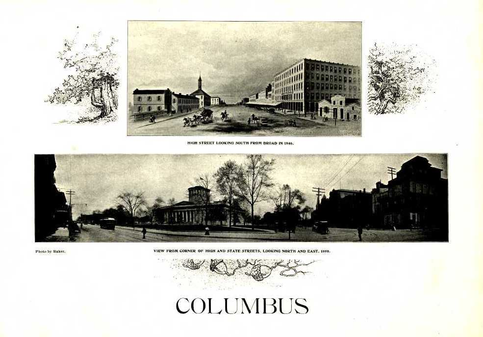 """Frontispiece from """"The Story of Columbus: Past, Present and Future...,"""" from the State Library of Ohio Rare Books Collection on Ohio Memory."""