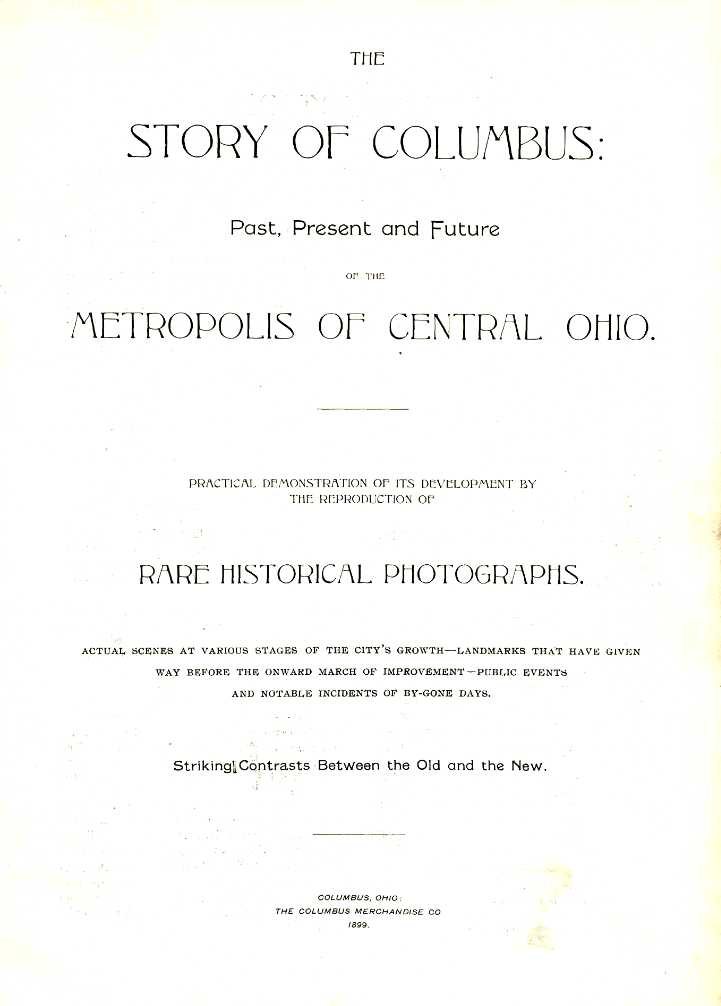 "Title page from ""Story of Columbus."""