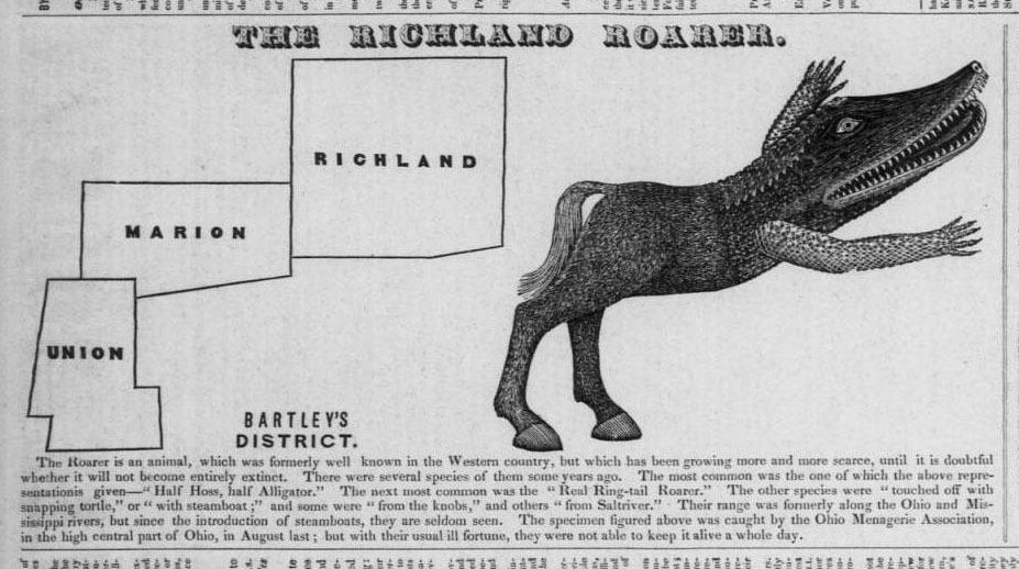 The Richland Roarer, from the Ohio State Journal, September 21, 1842.