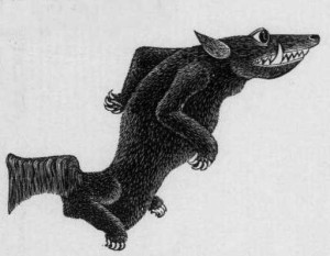 """""""An uncommon animal, called by naturalists a GERRYMANDER,"""" from the Ohio State Journal, August 31, 1842."""