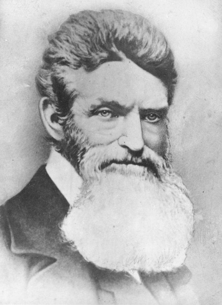 Portrait of John Brown around the time of the raid at Harper's Ferry, via Ohio Memory.