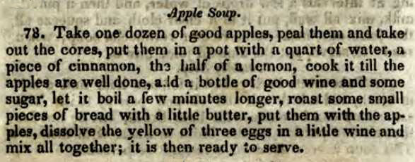 Apple soup…yum!