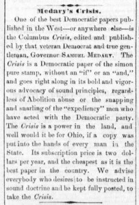 Dayton Daily Empire, November 20, 1863. Via Chronicling America.