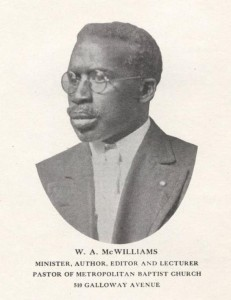 William A. McWilliams, editor of the Columbus Illustrated Record.