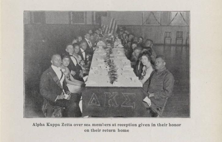 Photograph showing Columbus Alpha Kappa Zetta members, via the Columbus Illustrated Record on Ohio Memory.
