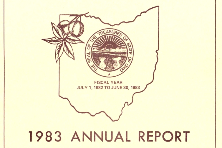 1983 Annual report of the Treasurer of State to the Governor, via Ohio Memory.