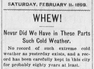 Clipping from the Marietta Daily Leader, February 11, 1899. Via Chronicling America.