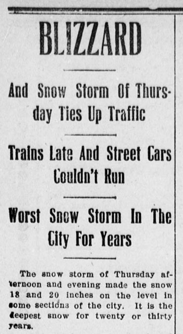 Clipping from the (Mount Vernon) Democratic Banner, February 22, 1910, via Chronicling America