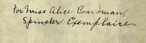 Inscription on the pamplet's cover.