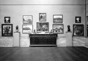 Museum gallery during the 1926 May Show, courtesy of the Cleveland Museum of Art via Ohio Memory.