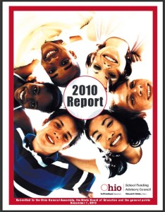 Cover of a report by the  Ohio School Funding Advisory Council, from the State Library of Ohio Digital Collection via Ohio Memory.