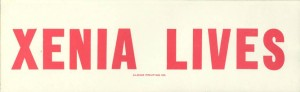 Bumper sticker from the Aldine Printing Company of Xenia, printed and distributed following the tornado in 1974. Courtesy of the Greene County Historical Society via Ohio Memory.