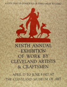 1927 May Show poster, courtesy of the Cleveland Museum of Art via Ohio Memory.