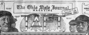 Headline of special on President Taft, from the Ohio State Journal, February 28, 1909. Via Ohio Memory.