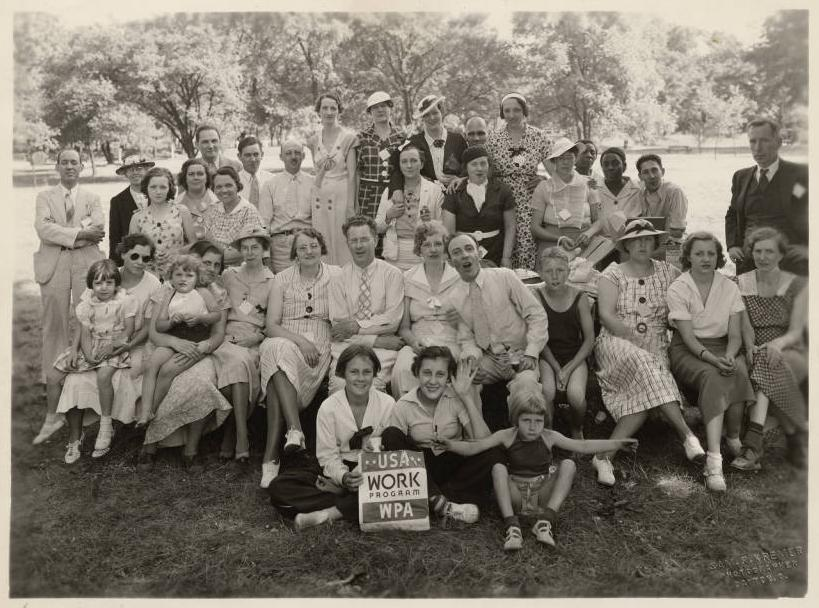 """Writers' Project Picnic"" from the Ohio Guide Collection on Ohio Memory."