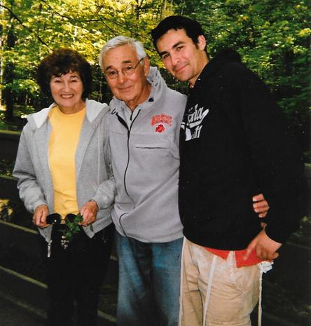 Sonja, her husband, Earl, and grandson Yitzy, taken 2012. Photograph courtesy of the Marsh family.