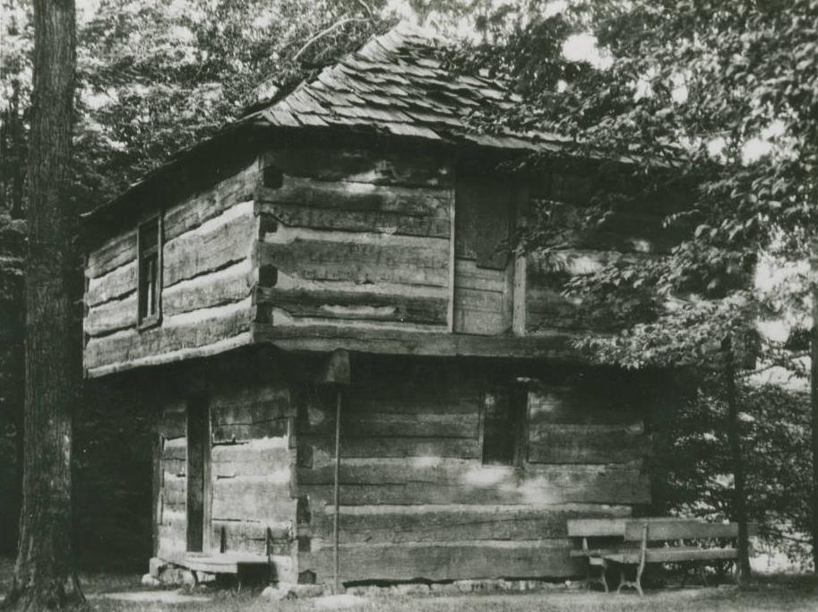 Blockhouse in Mansfield, of the type Newsom discusses in his narrative. Via Ohio Memory.