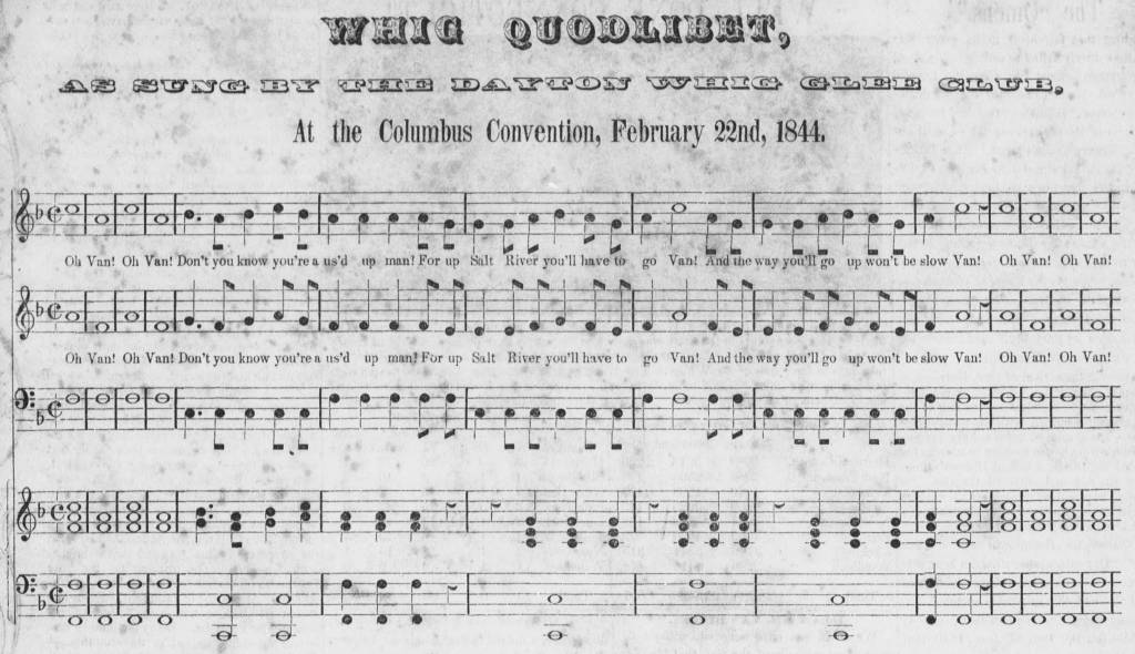 "The ""Whig Quodlibet"", published in That Same Old Coon."