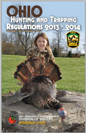 "Cover of the 2013-2014 ""Hunting and Trapping Regulations,"" from the State Library of Ohio Digital Collection."