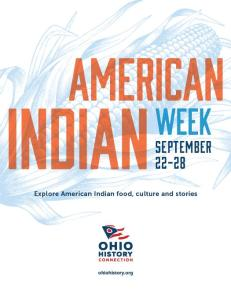 Official poster for American Indian Week 2014.