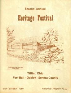 Cover of the Heritage Festival program, 1980. From the Seneca County Digital Library on Ohio Memory.