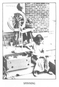 Spinning demonstration at the 1980 Heritage Festival.