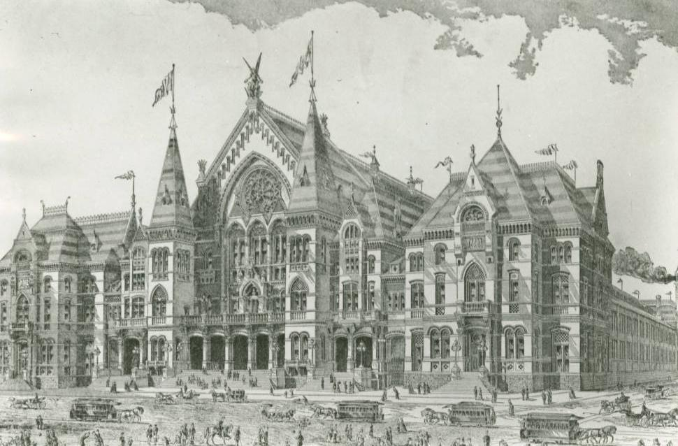 Cincinnati Music Hall & Exposition, 1890. Via the Ohio Guide Collection on Ohio Memory.