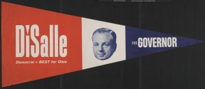 Campaign pennant for Governor Michael DiSalle, via the Ohio Governors Collection.