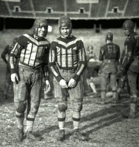 Chic Harley, seen at right, with an unidentified teammate, via Ohio Memory.