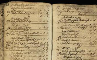 Page from the merchant ledger of John Gaston, ca. 1773-1774. Via the State Library of Ohio Historical Documents Collection on Ohio Memory.