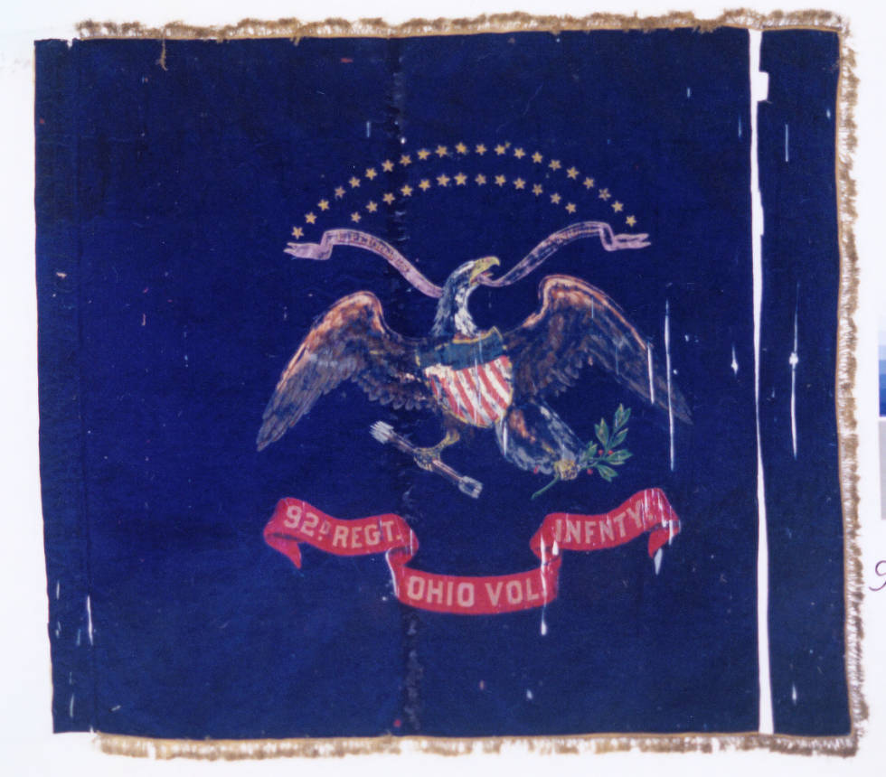 The Regimental Colors of the 92nd OVI, one of the Ohio units that participated in the March to the Sea. Via Ohio Memory.