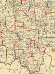 Map with Underground Railroad routes through the south-central region of Ohio, via the Siebert Collection.