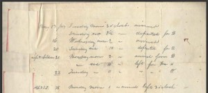 From a record of arrivals and departures of fugitive slaves, kept during a two-week period in 1847 by David Putnam Jr. of Harrison County, Ohio.